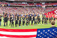 Glendale, AZ - Saturday June 25, 2016: Team USA prior to a Copa America Centenario third place match match between United States (USA) and Colombia (COL) at University of Phoenix Stadium.