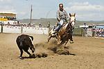 Calf roping at the Jordan Valley Big Loop Rodeo..