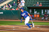 Jimy Perez (12) of the Ogden Raptors at bat against the Idaho Falls Chukars in Pioneer League action at Lindquist Field on August 26, 2015 in Ogden, Utah. Ogden defeated the Chukars 5-1. (Stephen Smith/Four Seam Images)