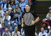 CHAPEL HILL, NC - FEBRUARY 25: Official Tony Henderson during a game between NC State and North Carolina at Dean E. Smith Center on February 25, 2020 in Chapel Hill, North Carolina.