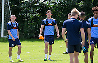 Danny Rowe (Centre) during the Wycombe Wanderers 2016/17 Pre Season Training Session at Wycombe Training Ground, High Wycombe, England on 1 July 2016. Photo by Andy Rowland / PRiME Media Images.