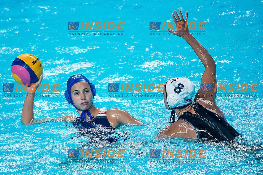 (L to R) KISTELEKY Dora Agnes HUN, KESZTHELY Rita USA<br /> Preliminary Round II<br /> Waterpolo - Waterpolo Arena<br /> Day09 01/08/2015<br /> XVI FINA World Championships Aquatics Swimming<br /> Kazan Tatarstan RUS July 24 - Aug. 9 2015 <br /> Photo A.Masini/Deepbluemedia/Insidefoto