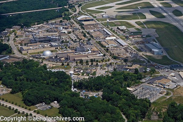 aerial view above National Aeronautics and Space Administration NASA Glenn Research Center at Lewis Field Brook Park Cleveland Ohio