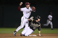 STANFORD, CA - FEBRUARY 20:  Infielder Colin Walsh #13 of the Stanford Cardinal during Stanford's 6-1 season opener win against the Vanderbilt Commodores on February 20, 2009 at Sunken Diamond in Stanford, California.