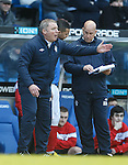 Ally McCoist and Kenny McDowall together with his tactics clipboard