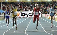 CALI - COLOMBIA - 17-07-2015: Christopher Taylor (2 Izq.) de Jamaica, gana la prueba de los 400 metros en el estadio Pascual Guerrero sede, sede de IAAF Campeonatos Mundiales de la Juventud Cali 2015.  / Christopher Taylor (2L) of Jamaica, wins the test of 400 meters in the Pascual Guerrero home of the IAAF World Youth Championships Cali 2015. Photos: VizzorImage / Luis Ramirez / Staff.
