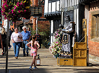 William Shakespeare was an English playwright, poet, and actor, widely regarded as the greatest writer in the English language and the world's greatest dramatist. Shakespeare was born and raised in Stratford-upon-Avon and as such the town has become a major British tourist destination for visitors worldwide. His Birthplace, His schoolroom, a museum and a host of other related venues attract upwards of 2.5 million people to the town each year.<br /> In addition The Royal Shakespeare Company is based in Stratford's Royal Shakespeare Theatre. Stratford-upon-Avon, England.  Saturday September 19th 2020<br /> <br /> Photo by Keith Mayhew