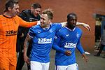 06.03.2021 Rangers v St Mirren: Allan McGregor, Scott Arfield and Glen Kamara