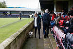 One woman and a dog. Hucknall Town v Heanor Town, 17th October 2020, at the Watnall Road Ground, East Midlands Counties League. Photo by Paul Thompson.