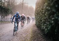 gravel over cobbles<br /> <br /> 50th GP Samyn 2018<br /> Quaregnon > Dour: 200km (BELGIUM)