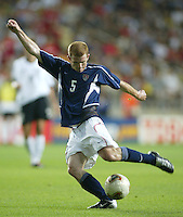 John O'Brien. The USA lost to Germany 1-0 in the Quarterfinals of the FIFA World Cup 2002 in South Korea on June 21, 2002.