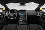 Stock photo of straight dashboard view of 2020 Jaguar F-Type R 2 Door Coupe Dashboard
