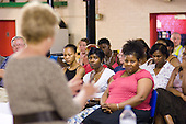 Karen Buck MP addresses a 'Tell It Like It Is' meeting at the Yaa Asantewaa Centre in North Paddington: part of a national campaign questioning the under-achievement of black children in schools.