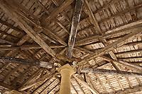 Europe/France/Aquitaine/24/Dordogne/Le Buisson-de-Cadouin: Charpente de la Halle<br /> :