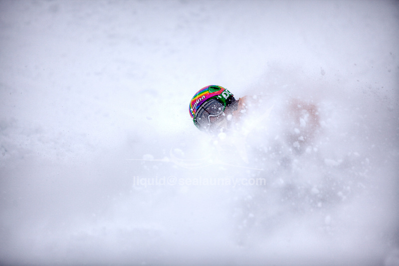 Challenge Mer et Montagne 2012, Saint Gervais les Bains, Mont Blanc, Haute Savoie, France..Ski Super Geant..Aurelien Ducroz