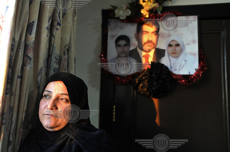 Leila Dier Hassan sustained severe injuries to her legs and arm when a rocket hit her house during clashes between US forces and Mahdi Army militias in Baghdad. Her husband, son and daughter were killed in the attack. She is now being treated in Jordan.