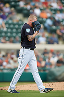 Detroit Tigers relief pitcher Daniel Stumpf (68) during a Grapefruit League Spring Training game against the New York Yankees on February 27, 2019 at Publix Field at Joker Marchant Stadium in Lakeland, Florida.  Yankees defeated the Tigers 10-4 as the game was called after the sixth inning due to rain.  (Mike Janes/Four Seam Images)