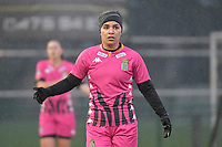 Yasaman Farmani (6) of Sporting Charleroi  pictured during a female soccer game between SV Zulte - Waregem and Sporting Charleroi on the eleventh matchday of the 2020 - 2021 season of Belgian Scooore Womens Super League , saturday 23 th of January 2021  in Zulte , Belgium . PHOTO SPORTPIX.BE | SPP | DIRK VUYLSTEKE