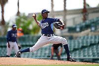 Tampa Bay Rays pitcher Deivy Mendez (35) during an instructional league game against the Baltimore Orioles on September 25, 2015 at Ed Smith Stadium in Sarasota, Florida.  (Mike Janes/Four Seam Images)