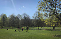 General view of Hughenden Park in High Wycombe during Easter bank holiday Monday during the Covid-19 Pandemic as the UK Government advice to maintain social distancing and minimise time outside in High Wycombe on 13 April 2020. Photo by PRiME Media Images.