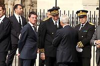 Manuel Valls - Messe en l'hommage du Pretre Jacques Hamel à La Cathedrale De Notre Dame De Paris, 27 juillet 2016