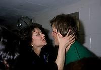 La chanteuse  Nicole Martin et andre-Philippe gagnon au Festival Juste Pour Rire<br /> , Date inconnue entre 1985 et 1995<br /> <br /> PHOTO :   agence Quebec Presse - Pierre Roussel