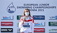 50m Butterfly Women<br /> Podium<br /> KLEPIKOVA Daria RUS Russia Gold Medal<br /> LEN European Junior Swimming Championships 2021<br /> Rome 21710<br /> Stadio Del Nuoto Foro Italico <br /> Photo Andrea Masini / Deepbluemedia / Insidefoto