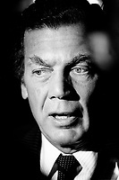 May 20 1987 File Photo - <br /> Egdar Bronfman (Senior) ,Canadian born billionaire and longtime World Jewish Congress president  at Seagram's annual Meeting. <br /> <br /> Born June 20, 1929, Edgar Bronfman is one of four children of Samuel and Saidy Bronfman . He  died December 21,2013<br /> <br /> <br /> <br /> PHOTO :  Agence Quebec Presse