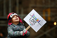 The women's march takes place downtown on Saturday January 19, 2019 in Pittsburgh, Pennsylvania. (Photo by Jared Wickerham/Pittsburgh City Paper)