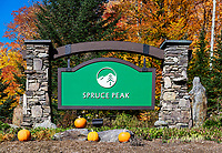 Spruce Peak Ski Resort, Stowe, Vermont, USA.