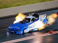 Jul 20, 2019; Morrison, CO, USA; NHRA funny car driver Tommy Johnson Jr during qualifying for the Mile High Nationals at Bandimere Speedway. Mandatory Credit: Mark J. Rebilas-USA TODAY Sports
