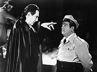 Bela Lugosi (L) and Abbott and Costello in ABBOTT AND COSTELLO MEET FRANKENSTEIN