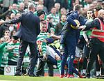 31.03.2019 Celtic v Rangers: Wes Foderingham and Mikael Luistig