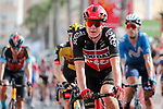 Steff Cras (BEL) Lotto Soudal crosses the finish line at the end of Stage 8 of La Vuelta d'Espana 2021, running 173.7km from Santa Pola to La Manga del Mar Menor, Spain. 21st August 2021.     <br /> Picture: Luis Angel Gomez/Photogomezsport | Cyclefile<br /> <br /> All photos usage must carry mandatory copyright credit (© Cyclefile | Luis Angel Gomez/Photogomezsport)
