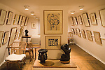 Kettles Yard interior room drawings Henri Gaudier-Brzeska main house Cambridge Cambridgeshire