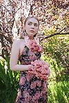 Sunday Mail , Fashion with Mirella , Floral spring fashion, Floral Head piece , Photo : Nick Clayton.