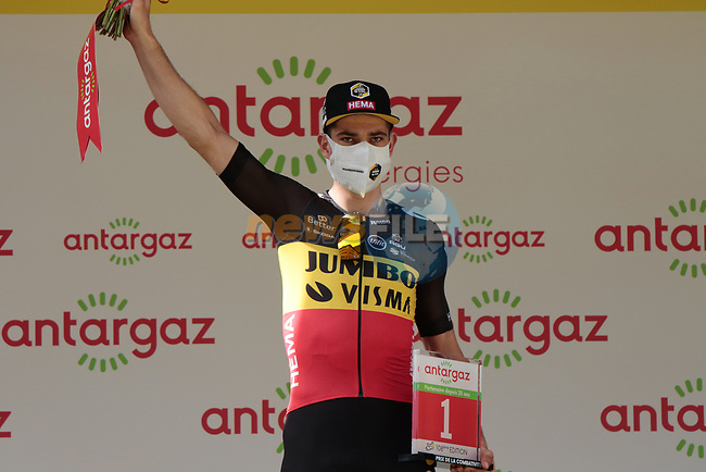 Belgian Champion Wout Van Aert (BEL) Jumbo-Visma wins the day's combativity prize at the end of Stage 15 of the 2021 Tour de France, running 191.3km from Céret to Andorre-La-Vieille, Andorra. 11th July 2021.  <br /> Picture: Colin Flockton   Cyclefile<br /> <br /> All photos usage must carry mandatory copyright credit (© Cyclefile   Colin Flockton)