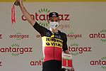 Belgian Champion Wout Van Aert (BEL) Jumbo-Visma wins the day's combativity prize at the end of Stage 15 of the 2021 Tour de France, running 191.3km from Céret to Andorre-La-Vieille, Andorra. 11th July 2021.  <br /> Picture: Colin Flockton | Cyclefile<br /> <br /> All photos usage must carry mandatory copyright credit (© Cyclefile | Colin Flockton)