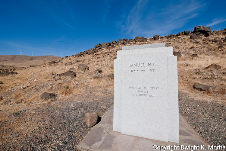 Monument memorializing Samuel Hill who built the Stonehenge Memorial in Maryhill, Washington