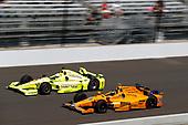 Verizon IndyCar Series<br /> Indianapolis 500 Carb Day<br /> Indianapolis Motor Speedway, Indianapolis, IN USA<br /> Friday 26 May 2017<br /> Simon Pagenaud, Team Penske Chevrolet Fernando Alonso, McLaren-Honda-Andretti Honda<br /> World Copyright: Michael L. Levitt<br /> LAT Images