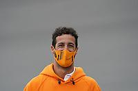 2nd September 2021: Circuit Zandvoort,  Zandvoort, Netherlands;  Daniel Ricciardo AUS 3 , McLaren F1 Team goes with his engineers over the steep curve before start finish Formula 1 Heineken Dutch Grand Prix 2021, 13th round of the 2021 FIA Formula One World Championship