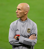 LOS ANGELES, CA - SEPTEMBER 02: Head coach Bob Bradley during a game between San Jose Earthquakes and Los Angeles FC at Banc of California stadium on September 02, 2020 in Los Angeles, California.