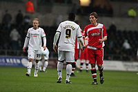 Pictured: Jason Scotland of Swansea City in action <br /> Re: Coca Cola Championship, Swansea City FC v Charlton Athletic at the Liberty Stadium, Swansea, south Wales. 28 February 2009<br /> Picture by D Legakis Photography / Athena Picture Agency, Swansea 07815441513