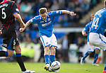 St Johnstone v Inverness Caledonian Thistle...05.10.13      SPFL<br /> Steven MacLean scores the third goal<br /> Picture by Graeme Hart.<br /> Copyright Perthshire Picture Agency<br /> Tel: 01738 623350  Mobile: 07990 594431