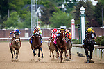 MAY 2, 2015: The field passes the grandstands for the second time during the 29th running of the Humana Distaff at Churchill Downs in Louisville, Kentucky. Jon Durr/ESW/CSM