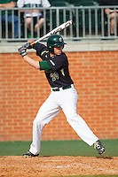 Nick Daddio (20) of the Charlotte 49ers at bat against the Canisius Golden Griffins at Hayes Stadium on February 23, 2014 in Charlotte, North Carolina.  The Golden Griffins defeated the 49ers 10-1.  (Brian Westerholt/Four Seam Images)