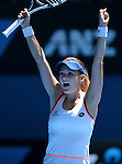 Agnieszka Radwanska (POL) defeats Victoria Azarenka 6-1, 5-7, 6-0