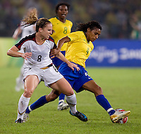 Amy Rodriguez, Tania. The USWNT defeated Brazil, 1-0, to win the gold medal during the 2008 Beijing Olympics at Workers' Stadium in Beijing, China.