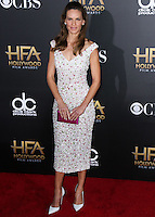 HOLLYWOOD, LOS ANGELES, CA, USA - NOVEMBER 14: Hilary Swank arrives at the 18th Annual Hollywood Film Awards held at the Hollywood Palladium on November 14, 2014 in Hollywood, Los Angeles, California, United States. (Photo by Xavier Collin/Celebrity Monitor)