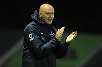 Head Coach Cameron Toshack of Swansea City u23's during the Premier League International Cup match between and Swansea City U23 and FC Porto B at the Landore Training Ground in Swansea, Wales, UK. Wednesday 25 September 2019.